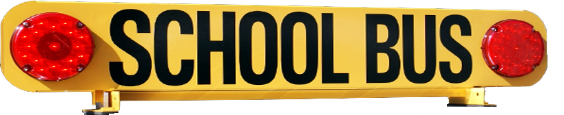folding school bus sign from legacy machine